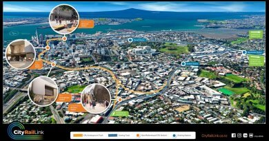 Auckland's City Rail Link 3D flyover & station map