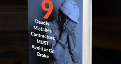 9 Deadly Mistakes Contractors Must Avoid or Go Broke – free guide