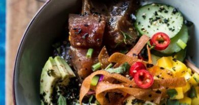 Poke bowl packs a protein & fibre punch for a packed lunch