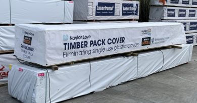 Innovative timber covers replace single use plastic